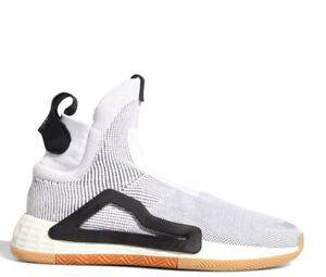 Details about adidas N3xt L3v3l Mens Off White High Top Geometric Basketball Sneakers F36272