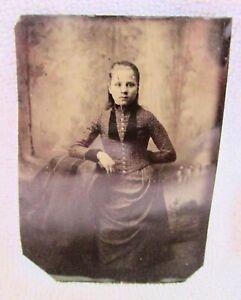 Photo Photograph Tintype Western Arizona Working Gal Cowboy Woman Soiled Dove