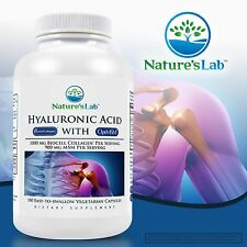 Nature's Lab Hyaluronic Acid with BioCell Collagen 180 Vegetarian Capsules