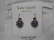 Kate Spade Blue Crystal Blue/Gold Plated Ball Drop Earrings NWT $95