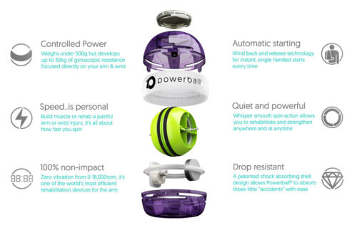 Gyro Wrist Power Ball New NSD Powerball 280Hz Autostart Fusion Pro Gyroscope