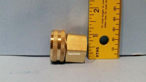 "Solid Brass Garden Hose Swivel Fitting 3//4/"" Inch Female GHT 1//2/"" Inch Female NPT"