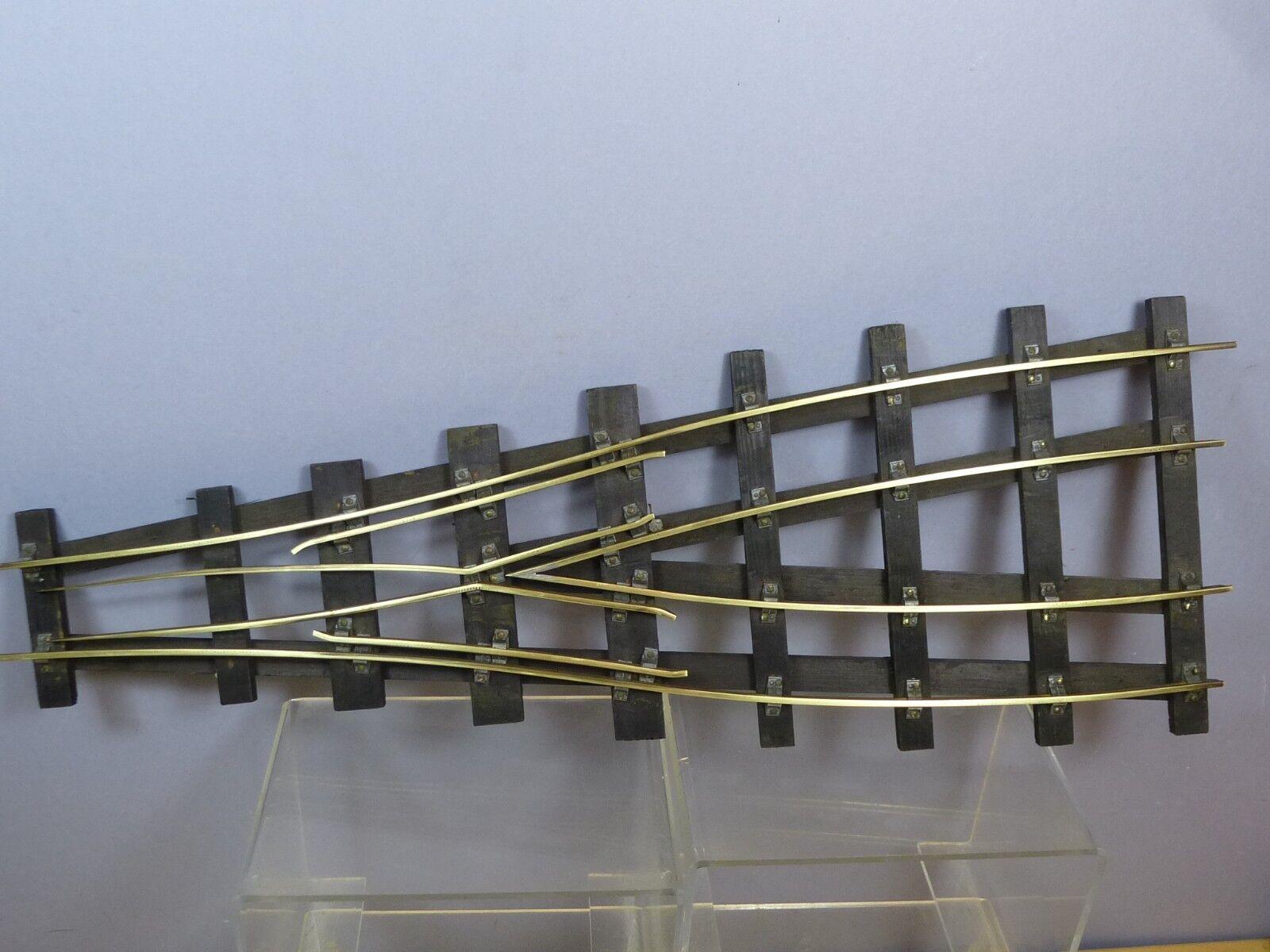 VINTAGE BASSETT LOWKE MODEL No. 1 X  2 RAIL BRASS  WOOD SLEEPER PARALLEL POINTS