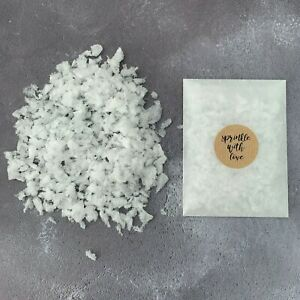 50-Real-Petal-Natural-Wedding-Confetti-Bags-White-Snow-Biodegradable-Throwing