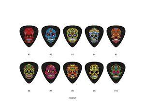 Sugar-Skull-Guitar-Pick-Set-2-10pcs-BUY-2-SAME-GET-THE-3RD-FREE