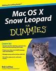 Mac OS X Snow Leopard For Dummies by Bob LeVitus (Paperback, 2009)