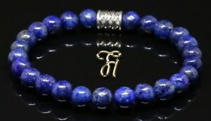 Lapislazuli-Armband-Bracelet-Perlenarmband-blau-8mm