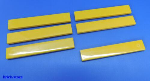 LEGO®  Nr 6 Stück 1x6 Fliese gelb 663624