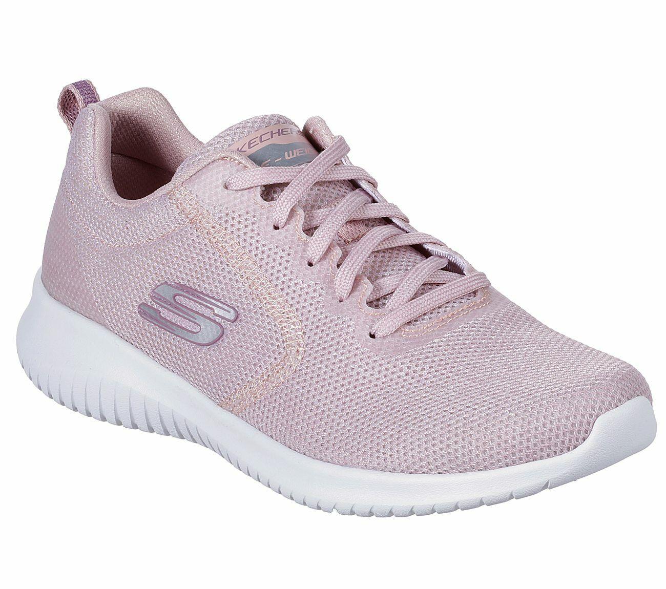 Skechers Zapato Luz Mujer rosado de espuma de memoria Mujer Luz Sport Casual Comfort Elegante Malla 13111 99197f