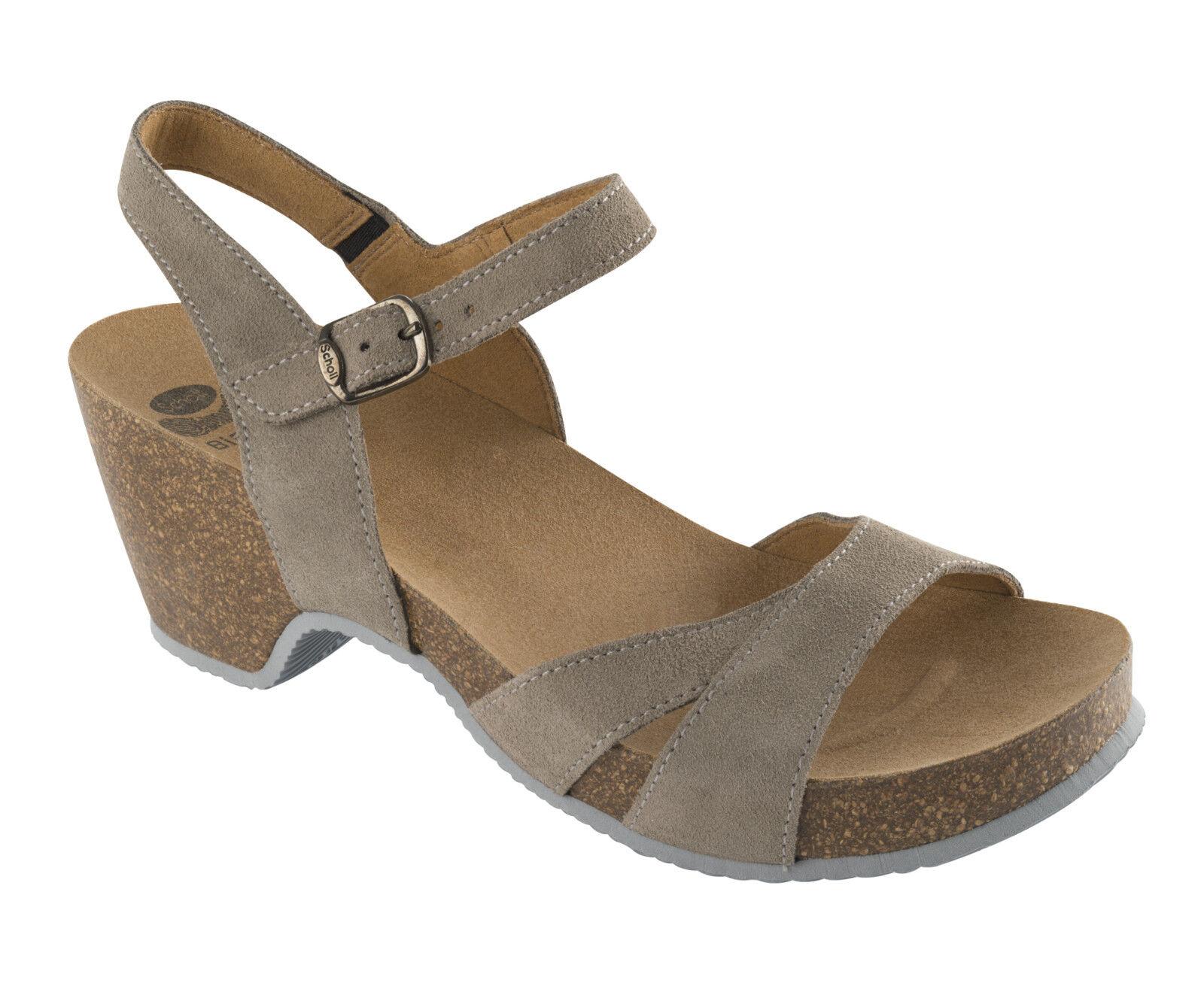 DR SCHOLL KATIE SUEDE donna sandali zoccoli ciabatte infradito donna SUEDE zeppa camoscio 39fa87