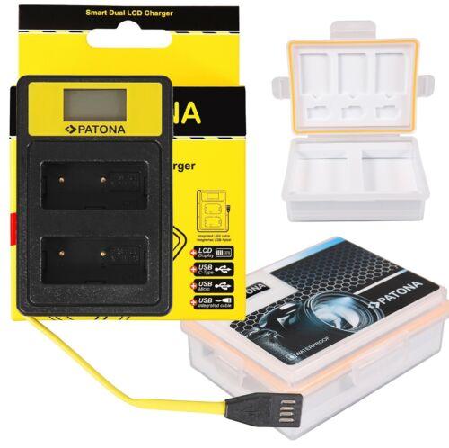 2 in 1 Set-- für Fuji-Film NP-W126-SSmart Dual LCD USB Ladegerät Akku/_Box