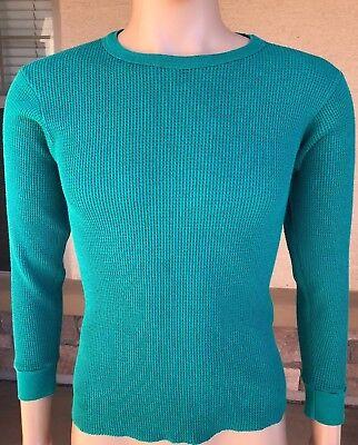 Vintage Northwest Territory 50//50 Henley Thermal L//S Shirt USA Made Medium 38-40