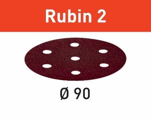 499079 Festool Abrasif STF D90//6 P80 RU2//50 Rubin 2