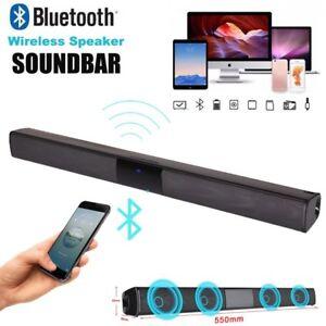 Bluetooth Wireless Soundbar 3D Sound Home Theater HiFi Speaker System Subwoofer - France - État : Neuf: Objet neuf et intact, n'ayant jamais servi, non ouvert, vendu dans son emballage d'origine (lorsqu'il y en a un). L'emballage doit tre le mme que celui de l'objet vendu en magasin, sauf si l'objet a été emballé par le fabricant d - France