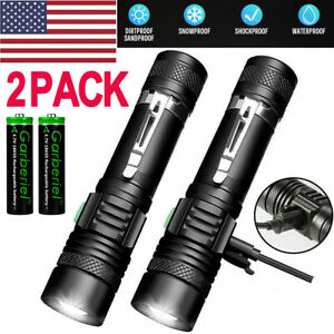 Torches Rechargeable USB Torches 2 Pack