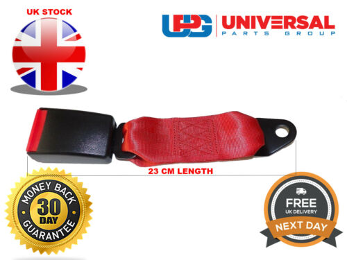 Universal Red 23 cm Long Webbed Seat Belt Buckle End **FREE NEXT DAY DELIVERY**