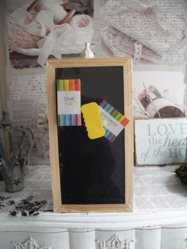 B-Ware 28x15cm Kreidetafel Wandtafel Memotafel Schreibtafel Tafel Holz Shabby