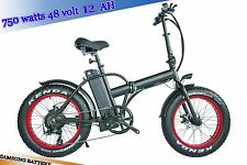 750watts 12AH 48V Fat Tire 48v Electric Bicycle Foldable 20' Bike 4' Kenda Tire