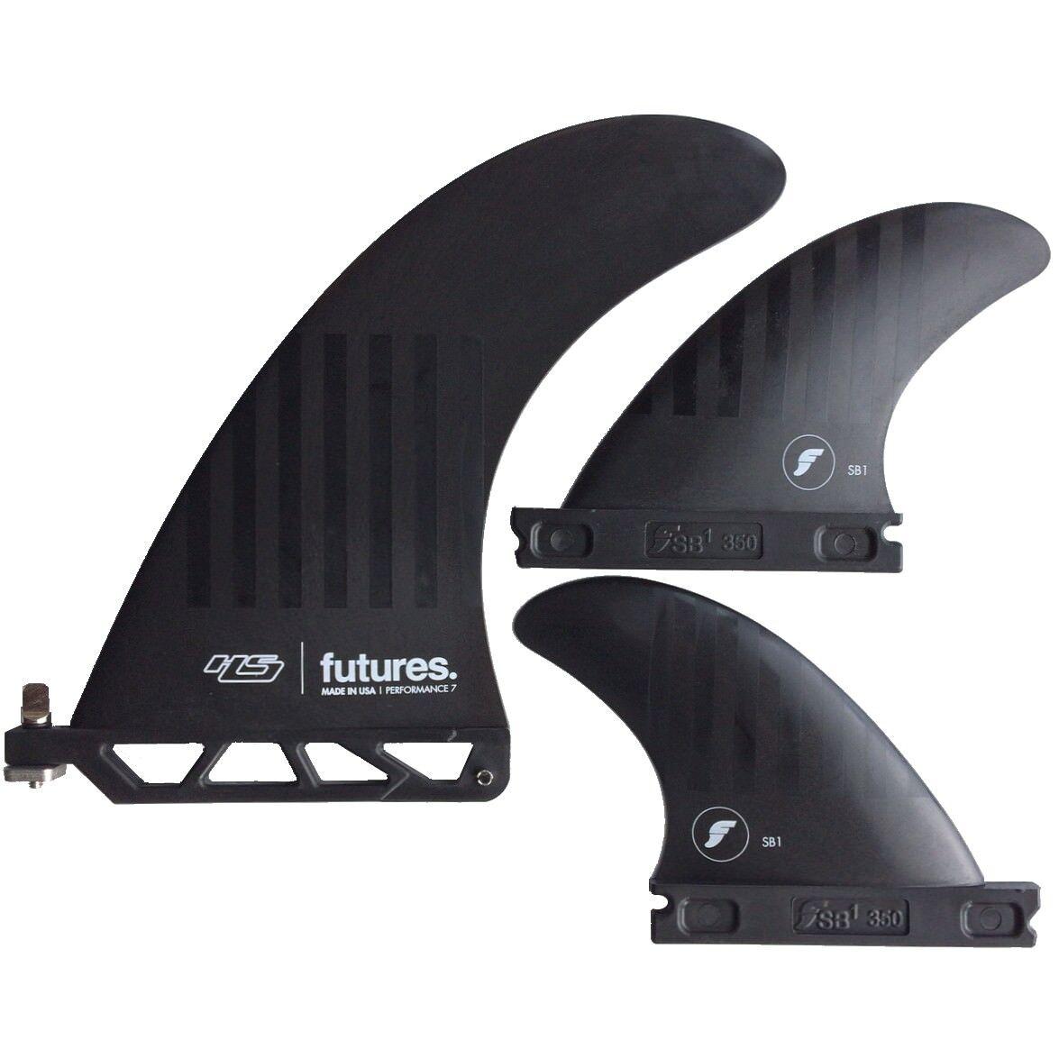 Futures fins Alpha Hs 2 Plus 1 Tavola da Surf Pinna Set Nuovo 17.8cm Hayden