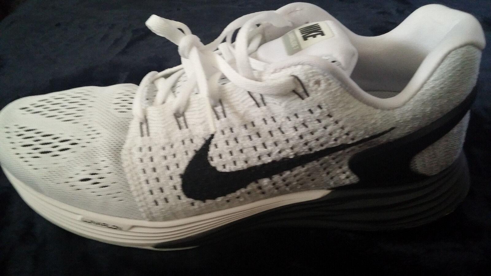 NIKE Lunarglide  Mens Running Shoes  White / Black Size  8.5