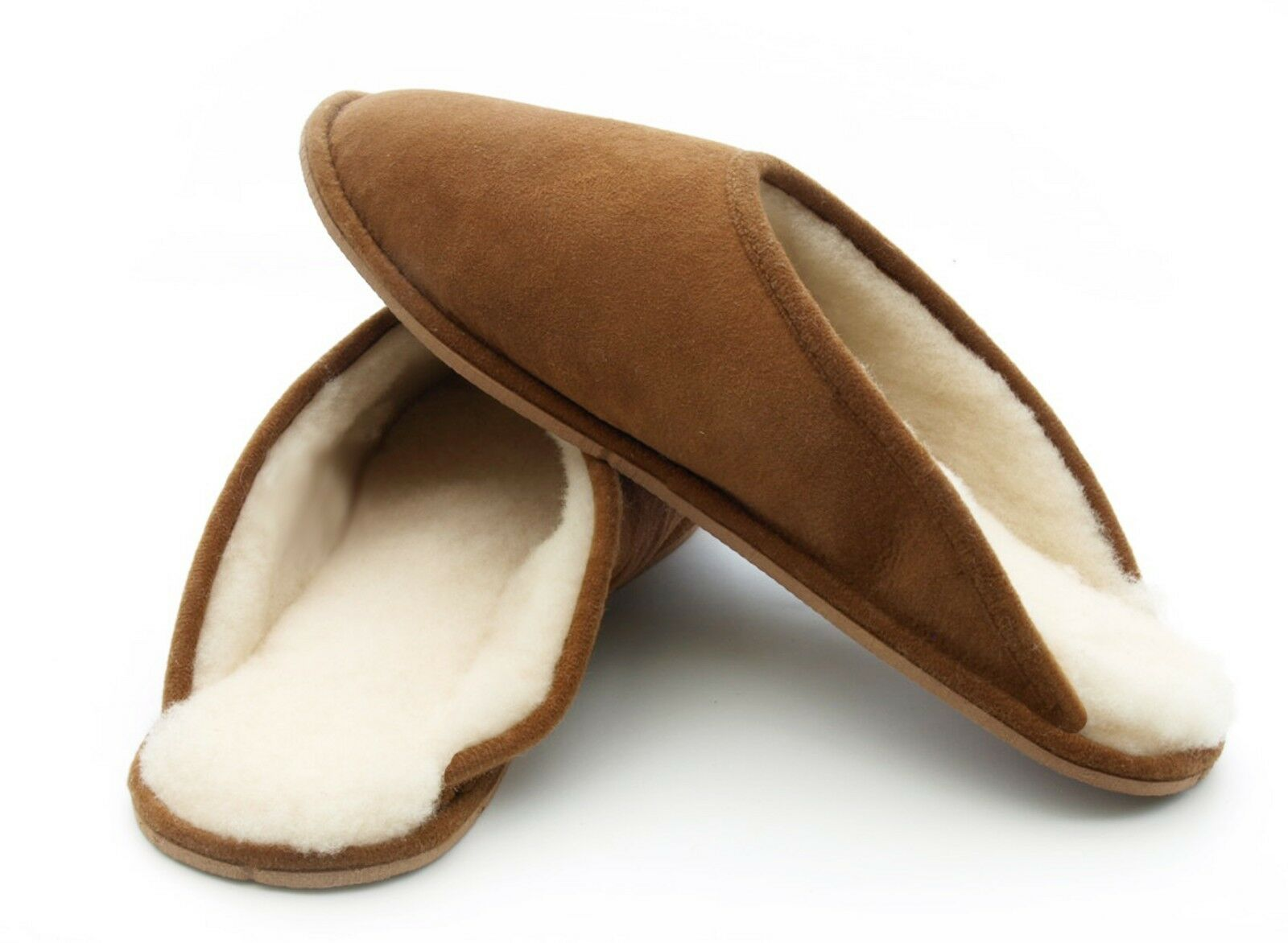 Mens Womens Portuguese Traditional Sheepskin Mules Slip-on Slippers