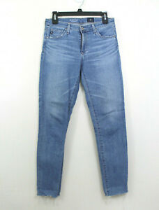 AG-Adriano-Goldschmied-Womens-27R-Jeans-The-Stevie-Slim-Straight-Ankle-Raw-Hem