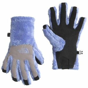 31cbfa0a469 New The North Face Girl s Denali Thermal ETIP Gloves Blue S M