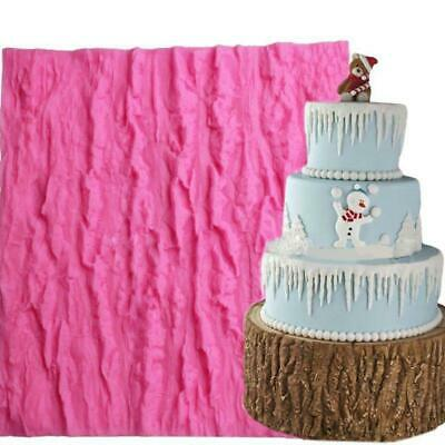 Large Tree Bark Texture Wood Cake Decorating Mould Mat Sugarcraft Fondant Mold
