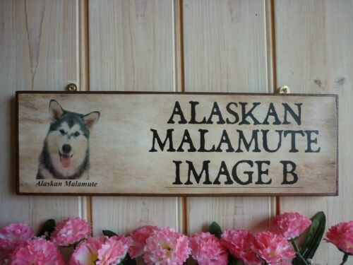 DOG WARNING SIGN BEWARE OF THE DOG SIGN GARDEN GATE SIGN ALASKAN MALAMUTE PLAQUE