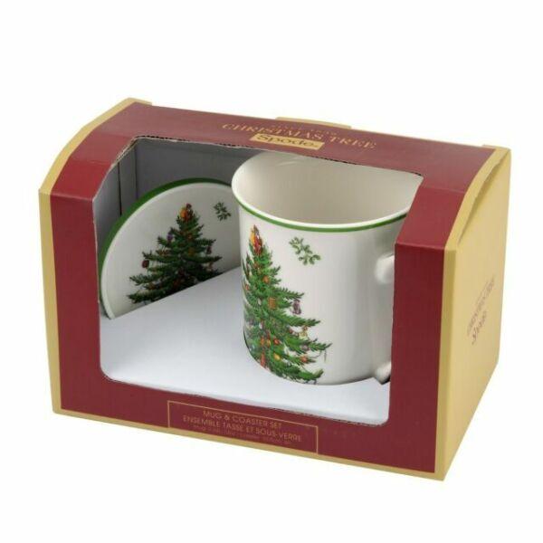 Spode Christmas Tree Sale: Spode Christmas Tree 12 Oz Mug And Coaster Set For Sale
