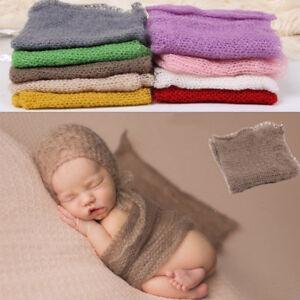 Bebe-Nouveau-ne-Photographie-Photo-Prop-Stretch-Wrap-Knit-Long-Ripple-mohair-tissu
