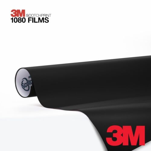3M Scotchprint Matte Deep Black Vinyl Car Wrap Film 1080 10ft x 5ft 50 sq//ft