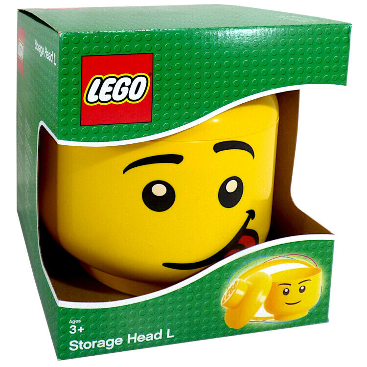 OFFICIAL LEGO STORAGE HEAD SILLY FACE TOYS GAMES BOX LARGE