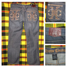 Mens Xtreme Couture Jeans Size 38 x 34 Thick Stitch Embellished Excellent EUC