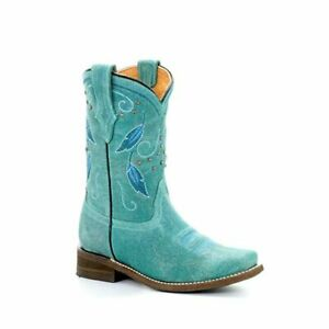 NEW YOUTH GIRLS TURQUOISE COWGIRL WESTERN BOOTS BY CORRAL A3150 NIB