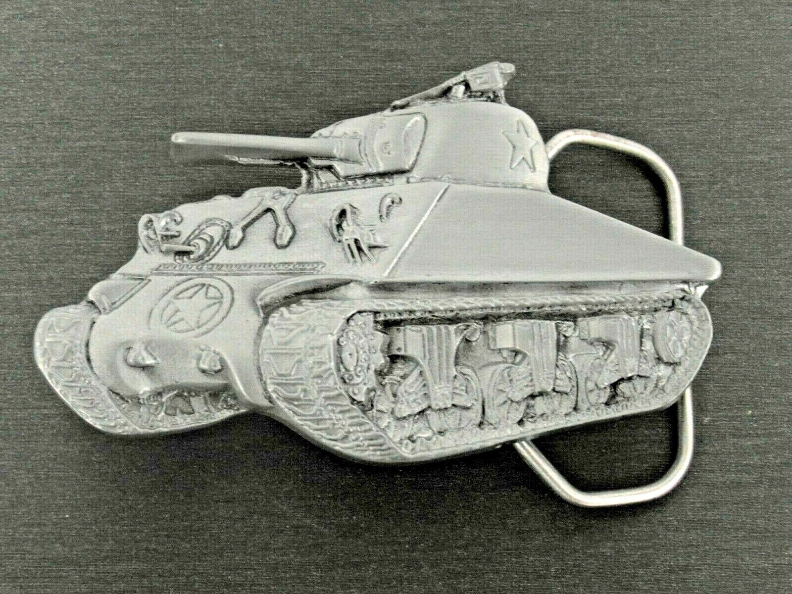 Gürtelschnalle Panzer Militär Kettenfahrzeug Wechselschnalle Buckle für 4cm