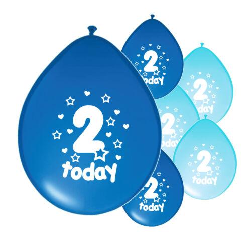 "PA 20 X 2nd BIRTHDAY BOY BLUE MIX BALLOONS /""2 TODAY/"" SECOND BIRTHDAY BALLOONS"