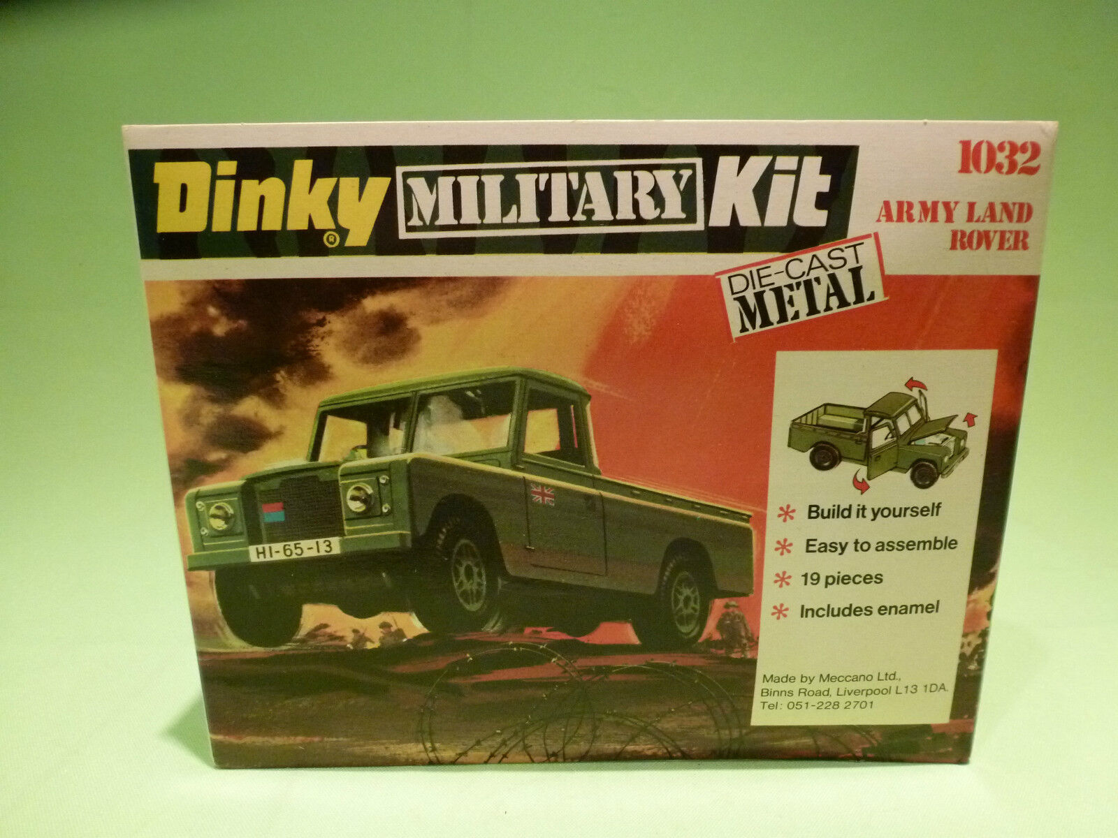 DINKY TOYS ACTION KIT  1 43  MILITARY  1032  LAND ROVER  -  MINT IN BLISTER  BOX