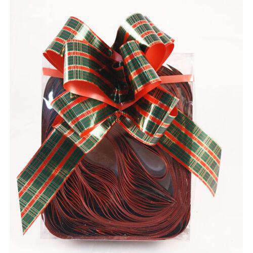 Florist Ribbon Tartan Bows Box of 20 to make 6 inch bows