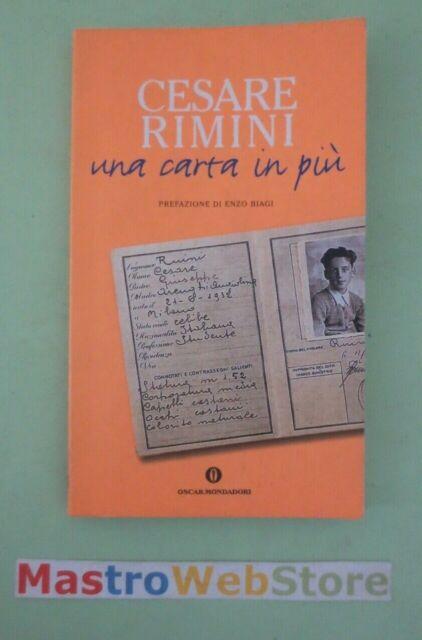 CESARE RIMINI - UNA CARTA IN PIÙ - ED.2001 OSCAR MONDADORI [L102]