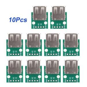 10X-USB-Female-Socket-Type-A-Board-2-54mm-Pitch-DIP-Adapter-Connector