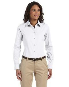 011d4864 Image is loading Chestnut-Hill-Button-Down-Dress-Shirt-Women-039-