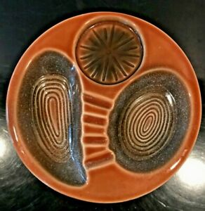 MID-CENTURY-MODERN-Ceramic-ASHTRAY-INSERT-CERAMIC-with-cup-rest-B-405