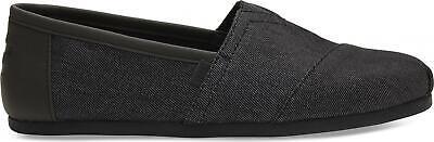 TOMS ALPARGATA 10013525 Mens Casual Espadrilles Summer Denim Slip On Shoes Black