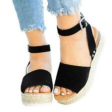 dc670856320e item 2 Women s Summer Ankle Strap Espadrille Wedge Platform Heel Open Toe  Sandals Szie -Women s Summer Ankle Strap Espadrille Wedge Platform Heel  Open Toe ...