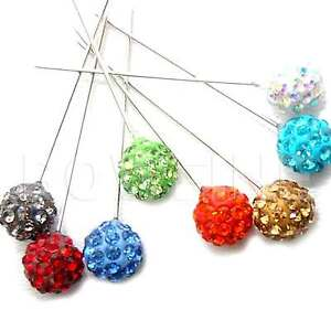 1 Shamballa Cristal Diamante Boda/Sombrero/Bridal Ramo Hijab Bufanda Broche Pin/  </span>