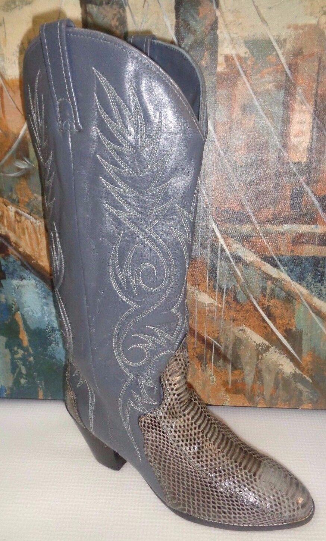 De Colección Acme occidental occidental occidental 0734 763 de Cuero de Piel de Serpiente botas Mujer Talla 6.5 M  tienda en linea