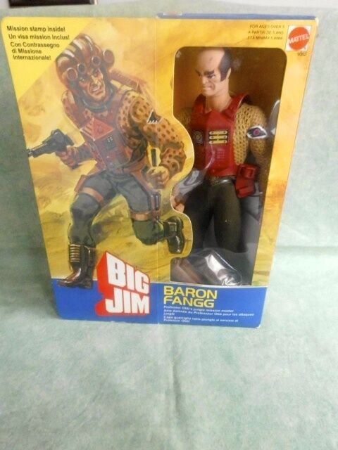 BIG JIM BARON FANGG  MATTEL ALL ORIGINAL FONDO DI MAGAZZINO