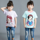 Toddler Girls Kids Novelty Short Sleeve T-shirt Snow White Sophia Costume Tees
