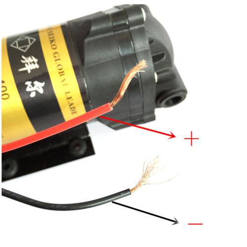 DC 24V Automatic Booster Pump 400GPD RO Domestic Diaphragm Water Pump 80 PSI